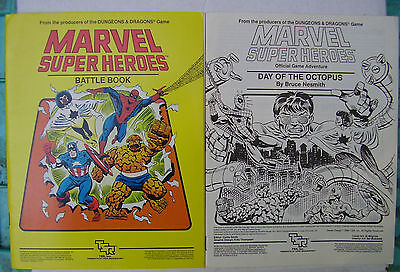 Marvel Super Heroes TSR Role-Playing Game Lot: Counters, Maps, Manuals, X-Men