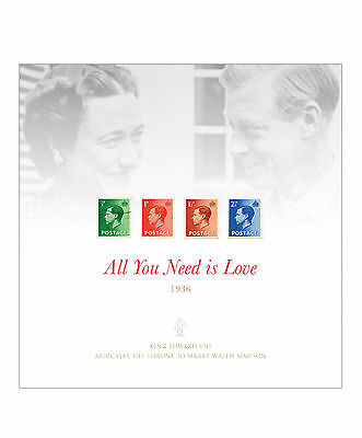 Limited Edition 'All You Need is Love' design featuring Edward VIII stamps
