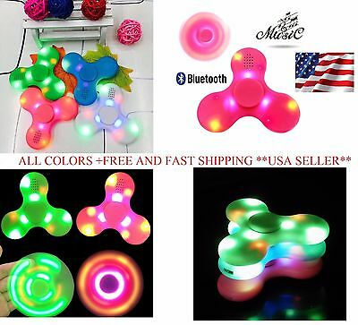 Fidget Hand Spinner with LED LIGHT & Bluetooth Speaker, AUTISM, Relieve Stress