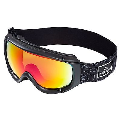 Kathmandu Adults Anti Fog Skiing Snowboarding Sports Snow Goggles Grey