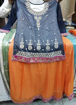 Latest Pakistani Party Dress - Sharara - NEW