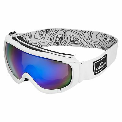Kathmandu Adults Anti Fog Skiing Snowboarding Sports Snow Goggles White