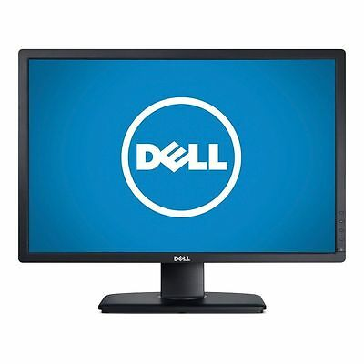 "Dell UltraSharp U2412M 24"" LED LCD Computer Monitor FHD 16:10 DVI VGA DP IPS"