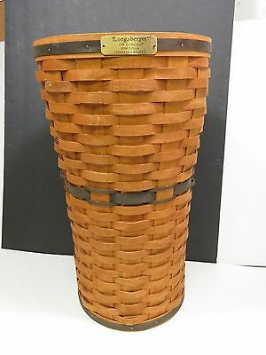 Longaberger 1994 JW Umbrella Basket with Protector Signed EN