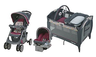 Baby Stroller Travel System Car Seat Infant LX Playard Nursery Center
