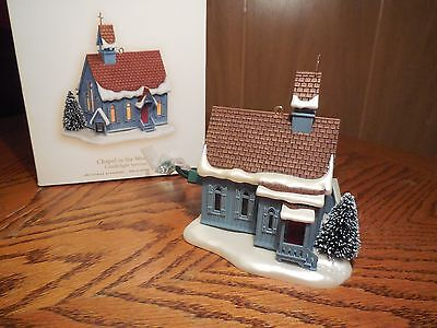 """hallmark 2007 """"Chapel in the Woods"""" Christmas Ornament- Magic Series- Lights up"""