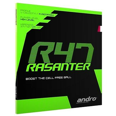 NEW & SEALED Andro Rasanter R47 Red 2.0 rubber * FREE SHIPPING *