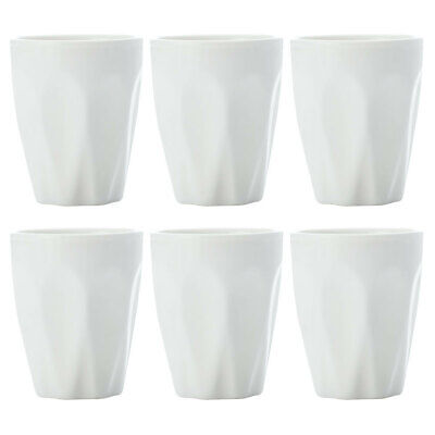 6pc Set Maxwell & Williams White Basics Porcelain Coffee Espresso Cup 90ml/Shot