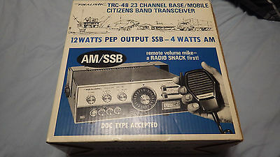 Brand New In Box Trc-48 Cb Am/ssb Transceiver With Volume Control & Microphone
