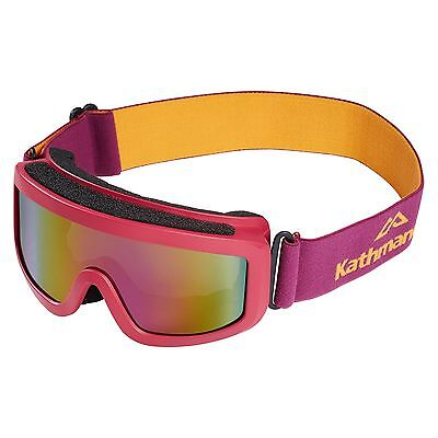 Kathmandu Kids Girls Boys Anti-Fog Ski Sports Snow Goggles Pink
