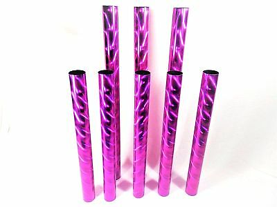 8 Trophy Columns Pink Rounded Shimmer Design Awards Pre Cut Two Sizes