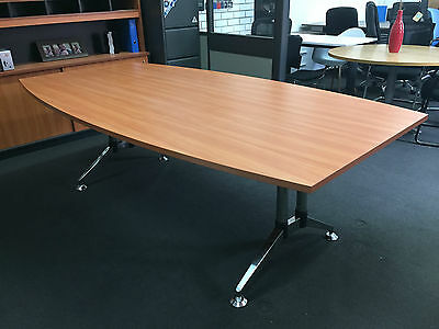 Boardroom Table with Polish Metal Boardroom Base Office Meeting Room Desk