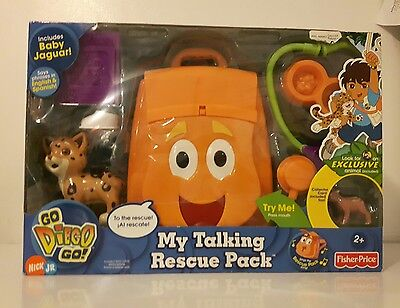 Go Diego Go My Talking Rescue Pack Fisher Price Nick Jr Brand New Sealed