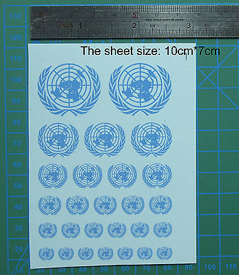 decal UN United Nations for different scales model kits (blue-2) 01017