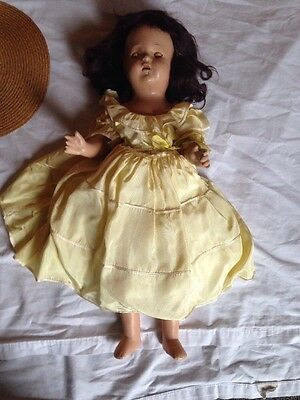 """Vintage 1920-30 Composition 19"""" DOLL Needs repaired"""