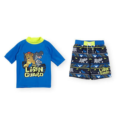 "Disney Baby 2 Piece ""The Lion Guard"" Rash Guard and Swim Trunk Set - Toddler"