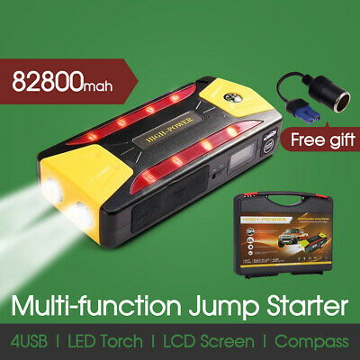 82800mAh PORTABLE JUMP STARTER BOOSTER POWER BATTERY CHARGER BANK CAR VEHICLE AU