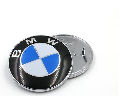 New BMW Car Emblem Front Hood Badge Logo 82mm 2 Pins Fits For BMW 3 5 7 X Series