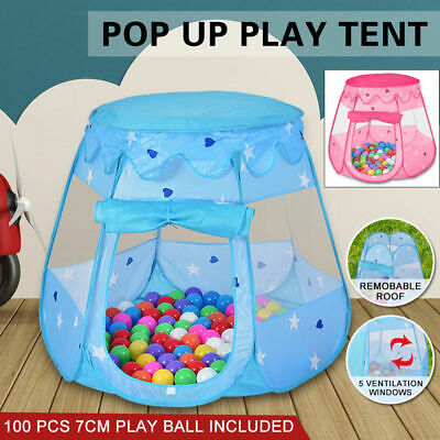 Kids Children Pop Up Ball Pit Play Tent Cubby Indoor Outdoor Playhouse Gift Toys