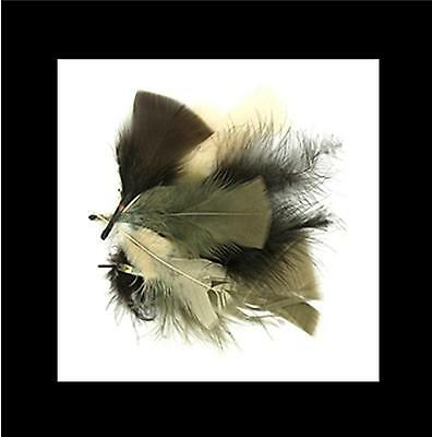 Feathers - Natural - Cream/Brown/Chocolate - 10 grams