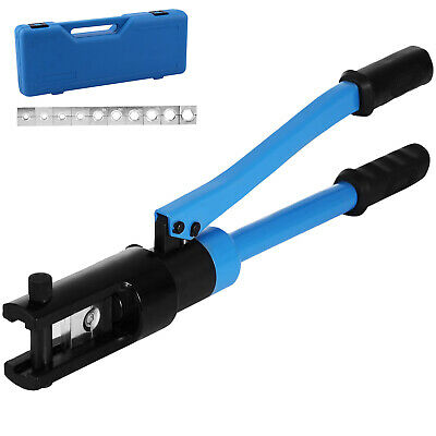 12 Ton Hydraulic Wire Terminal Crimper Battery Cable Lug Crimping Tool w/Dies