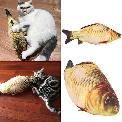 Funny Pet Kitten Cat Mint Play Fish Shape Plush Toys Coated With Catnip Grass