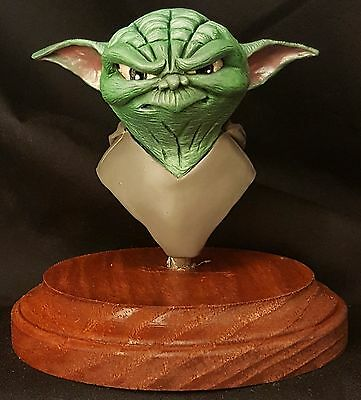 Star Wars Yoda Bust Painted OOAK Handmade Sculpture Jedi Art Rare NEW L@@K