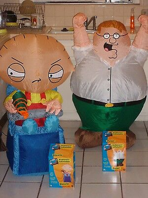 LOT OF 2 FAMILY GUY INFLATABLES 2005 GEMMY. STEWIE AND PETER. New.