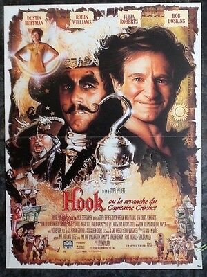 Disney Movie Poster, Hook, ORIGINAL Film Advertisement