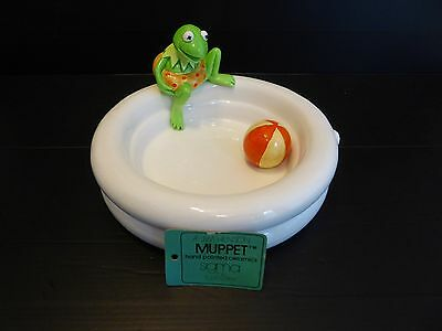 Retro Jim Henson Muppet's Kermit the Frog Ceramic Bowl