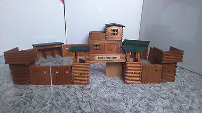 VERO FORT ROCKY MOUNTAINS Western Cowboy Holz Timbo Toys