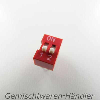 1x Dip Encoder Switch Standing Print 2 Pin Compartment Mini Coding Knitter Red