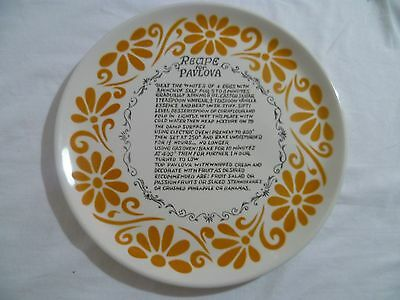 Retro Vintage Pavlova Plate Baking Serving With Recipe Japan