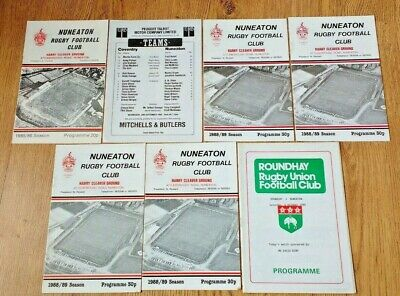 Nuneaton Rugby Union Programmes 1975 - 2006