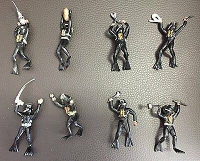 Vintage 1960's Lone Star Harvey Series Unbreakable Very Rare Full Set Of 8 Frogm