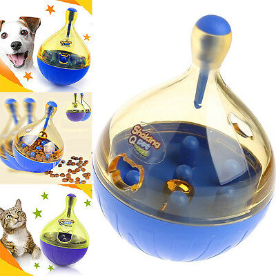 1x Pet Leakage Tumbler Food Dispenser Dog Cat Puppy Chew Interactive Play Toy
