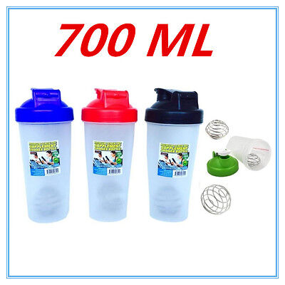 700Ml Gym Protein Supplement Drink Blender Mixer Shaker Shake Ball Bottle Cup