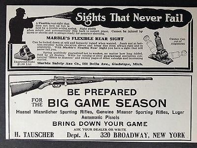 Antique Original 1910 Print Ad(B20)~Marble Safety Axe Co. Gladstone Mich.