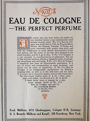 Antique Original1912 Print Ad (B14)~Eau De Cologne No.4711 Glockengasse,germany