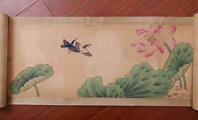 Awesome Handwork China Landscape Old Scroll Painting Mark YunShouPing PP681