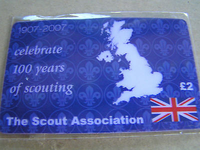 UNITED KINGDOM. new prepaid card 100 years of The scout association