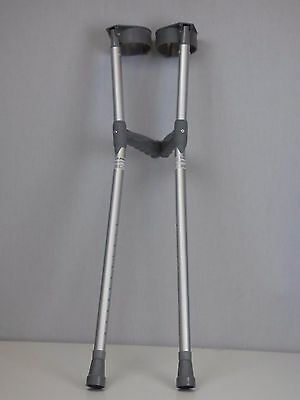 Single Adjustable Crutches with PVC Handle (Pair)