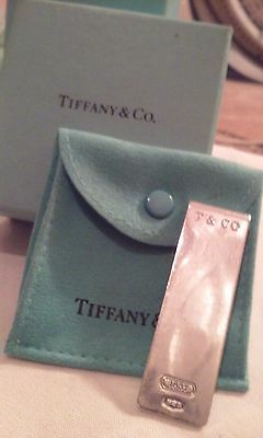 MUST S@@! EXCELLENT ! Tiffany & Co 1837 Sterling Silver Money Clip Pouch/Box