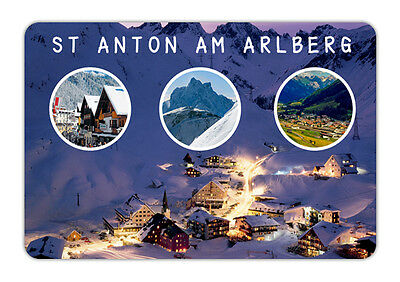 "Austria St Anton am Arlberg Souvenir Travel Photo Fridge Magnet 3.5""X2.4"""