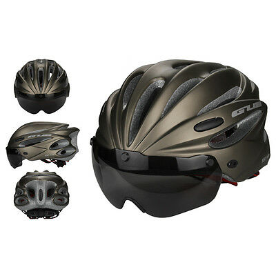 Cycling Road Cycle Helmet Adjustable Bicycle Bike Safety Helmets with Visor Len