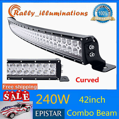 """240W 42"""" Curved Combo Off road Work LED Light Fog Driving DRL SUV Truck ATV CREE"""