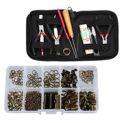 12pcs Jewelry Making Starter Beading Tool Kit with Case Repair Hobby Crafts