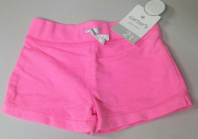 NWT Carter's Toddler Girls size 2T Knit Shorts Pink