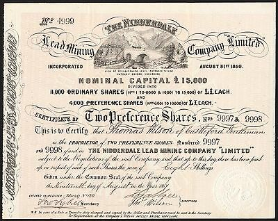 Nidderdale Lead Mining Co. Ltd., 1867