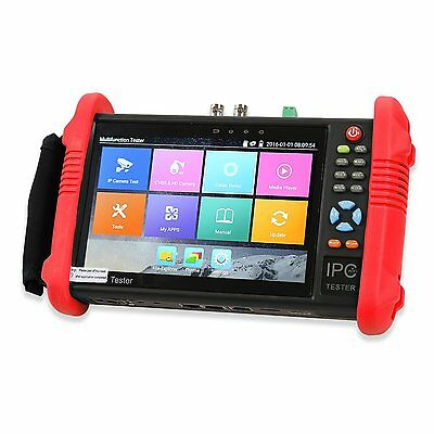 """IPC-9800 7""""Touch Screen LCD POE ONVIF IP&Analoge CCTV Camera Test Built-in WIFI"""